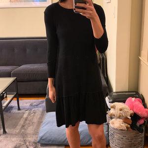 Zara Black Knit Sweater Dress (Small)